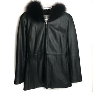 Marvin Richards Women's Fox Fur and Leather Jacket